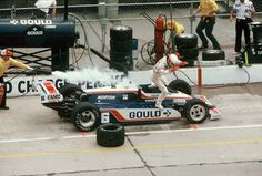 Rick Mears pit fire   Indy 500   Pinterest   Racing, Gold crown ...