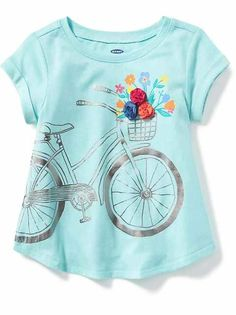 The baby girl clothes collection at Old Navy has all the latest styles and essentials for your baby girl including onesies, PJs, and playsets. Old Navy Toddler Girl, Toddler Girl Outfits, Kids Outfits, Girls Clothes Shops, Shirts For Girls, Girl Clothing, Little Girl Fashion, Fashion Kids, Toddler Fashion