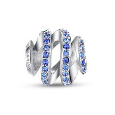 Pandora Charm - Blue ribbon