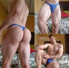 Sexy man in thong and lycra Smart Jokes, String Bikinis, Sexy Men, Hot Guys, Bodybuilding, Underwear, Instagram, 1, Mens Fashion