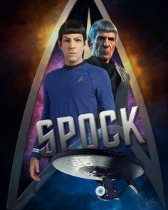 Spock by Gaz Williams Star Trek Crew, Star Trek Tv, Star Trek Series, Star Wars, Star Trek Voyager, Star Trek Reboot, Star Trek Captains, Star Trek Characters, Star Trek Beyond