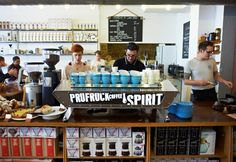 Prufrock - Well known for serving some of the best coffee in London, Leather Lane's Prufrock Café is a discerning coffee drinker's playground. Bakery Cafe, Cafe Restaurant, Restaurant Design, London Coffee Shop, Best Coffee Shop, Coffee Shop Counter, Coffee Places, Real Coffee, Cafe Bistro