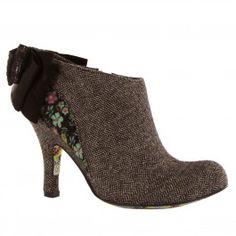 Irregular Choice Baby Beauty Black Grey Womens Shoes