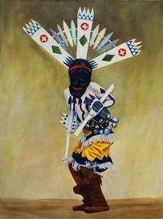 Artist Kathy Hatt    Apache Crown Dancer  kathatart.etsy.com