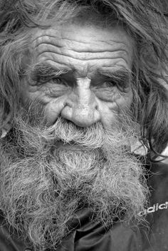 This man has SO MUCH WISDOM in his eyes. A long hard life, and quick with a smile.