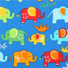 Image result for blue elephant fabric