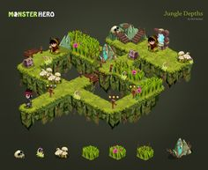 Game Level & Character design by Nick Barfuss, via Behance