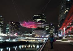 Janet Echelman Skies Painted with Unnumbered Sparks, Vancouver, Canada, March 2014 » Janet Echelman