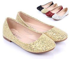 Gold nn New Causal Slip On Round Toe Kids Flats Girls Youth Dress Shoes Size 3 - http://shoes.goshoppins.com/girls-shoes/gold-nn-new-causal-slip-on-round-toe-kids-flats-girls-youth-dress-shoes-size-3/
