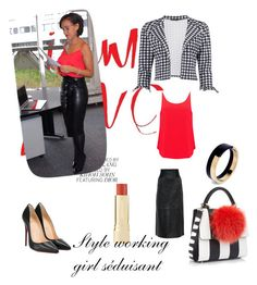 """""""Style working girl séduisant"""" by claudiacantina ❤ liked on Polyvore featuring BA&SH, Christian Louboutin, Les Petits Joueurs, Marni and Boohoo"""