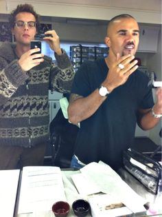 LOVE these men! Matthew Gray Gubler and Shemar Moore<3