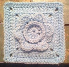 "DragonFlyMomof2 Designs© & Designs on a Hook: FRAMING A FLOWER 6"" SQUARE"