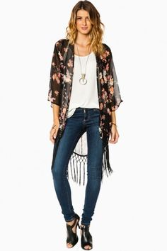 Go With The Floral Kimono