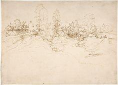 Fra Bartolomeo (Bartolomeo di Paolo del Fattorino)   Landscape (Wooded Approach to a Town)   ca. 1508
