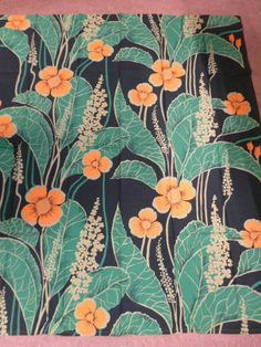 70's Floral Vintage Fabric from Sweden