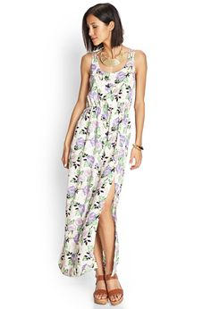 Strappy Rose Maxi Dress | FOREVER21 #F21Contemporary #MaxiDress #Floral