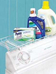 Laundry Shelf - Clip-on Washer & Dryer Shelf - Laundry Room Storage | Solutions