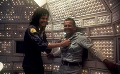 ALIEN (1979) - Sigourney Weaver & Ian Holm - Directed by Ridley Scott - 20th Century-Fox - Publicity Still.