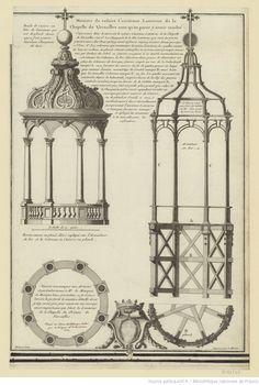 Maniere de refaire l'ancienne Lanterne de la Chapelle de Versailles sans qu'on parut y avoir touché : [estampe] / Bichart sculp.