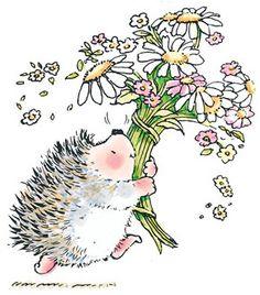 IMPRONTE DAUTORE - STAMPING - PRODOTTI - Timbri Penny Black - 1444K Hedgehog Bouquet