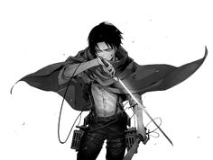 """Levi is one of my favorite characters from any piece of fiction I have read. Notice the """"read"""" because I'm referring to Levi from the manga of attack on titan, rather than the anime (yes there is a slight difference between the two mediums). Levi Ackerman, Attack On Titan Levi, Levi X Eren, Ereri, Chica Anime Manga, Anime Guys, Prince Of Stride, Cosplay Meme, Aot Wallpaper"""