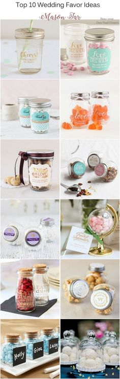 Mason Jar Wedding Favors / http://www.deerpearlflowers.com/wedding-favors-from-beau-coup/