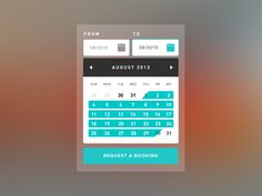 Date Picker - Booking Calendar UI by Jan Cantor