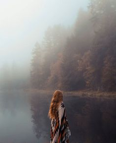 """""""Had the most magical hike this morning.  I love this foggy autumn weather, so…"""