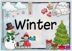 """Ideenreise: Jahreszeitenplakat """"Winter"""""""