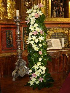 Columna de flores para bodas