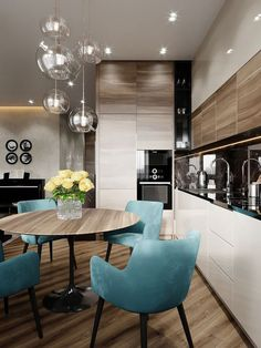 50 inspiring kitchen cabinet colors and ideas that will blow you away 3 ~ Best Dream Home Kitchen Room Design, Modern Kitchen Design, Dining Room Design, Home Decor Kitchen, Interior Design Kitchen, Kitchen Dining, Apartment Interior, Apartment Design, Interior Design Living Room