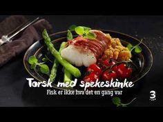 Lyst på et deilig måltid som passer til både hverdags og fest? Prøv torsk med spekeskinke. Beef, Food, Meat, Essen, Meals, Yemek, Eten, Steak