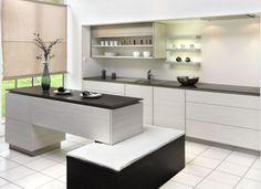Простое обаяние черно-белой кухни в стиле минимализм