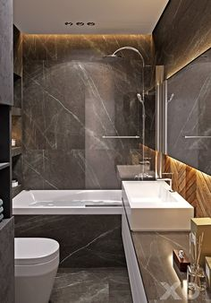 20 Shower Room Lights Ideas for each Style Design Modern Bathroom Design, Bathroom Interior Design, Modern Interior Design, Bad Inspiration, Bathroom Inspiration, Upstairs Bathrooms, Small Bathroom, Apartment Interior, Apartment Design
