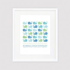 Blue Whales date of birth print