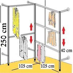 begehbarer kleiderschrank kleiderstange kleiderst nder garderobezimmer art idee rangement. Black Bedroom Furniture Sets. Home Design Ideas