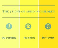 There are three main signs of ADHD for children. #adhd, #adhdawareness