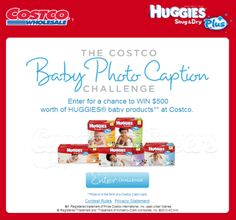 Costco Canada Contest: Win $500 Worth of Huggies!