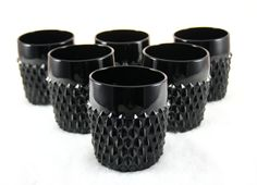 1970s Black Diamond Point Indiana Glass  by FoxandHoundstooth, $48.00
