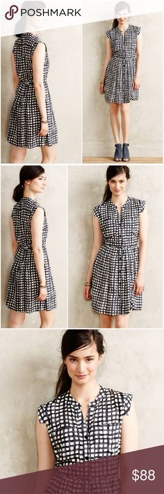 ANTHROPOLOGIE Tylho West Street Gingham Dress L Beautiful & current Anthropologie Tylho Dress Sz L but fits on the small side...best suited for a sz M 8/10 EUC Anthropologie Dresses