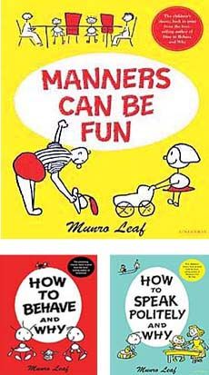 These are great books for helping teach manners to children!
