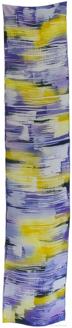Purple Sunset hand dyed silk scarf by Laura Elderton www.etsy.com/shop/lauraelderton