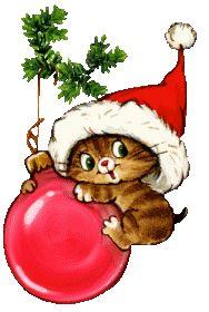 images of tube de noel Christmas Kitten, Christmas Drawing, Christmas Paintings, Christmas Animals, Christmas Holidays, Christmas Decorations, Christmas Ornaments, Christmas Clipart, Vintage Christmas Cards