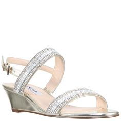 1eef113c82 FLORECE-PLATINO METALLIC FOIL · Nina ShoesWedge ...