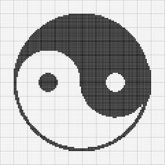 Free Cross Stitch Pattern - Angels Crochet - Yin-Yang Chart