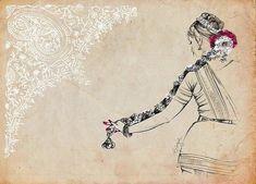 W ikipedia says that Bharatanatyam or Bharatanatyam is a major genre of Indian classical dance that originated in Tamil Nadu. Dance Paintings, Indian Art Paintings, Abstract Paintings, Oil Paintings, Pencil Art Drawings, Art Drawings Sketches, Indian Illustration, Dancing Drawings, Indian Classical Dance