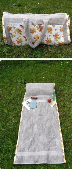 Diy Sewing Projects 37 Awesome DIY Summer Projects - DIY Sunbathing Companion Beach Towel - So many amazing ideas! Now that the weather is finally starting to warm up, I'm just drooling over all the fun DIY summer projects I want to try! Fabric Crafts, Sewing Crafts, Diy Crafts, Diy Gifts Sewing, Simple Crafts, Scrap Fabric, Sewing Hacks, Sewing Tutorials, Arts And Crafts