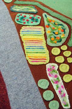 Farm Playmat, Needle-Felted Garden.