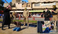ECHOES: Photos: ISIS beheads three men with sword for bein...