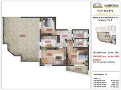 Apartamente de vanzare Mihai Bravu Residence 10 -3 camere tip C Desktop Screenshot, Floor Plans, Floor Plan Drawing, House Floor Plans